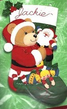Bucilla Teddys Christmas Santa Teddy Bear Toys Holiday Felt Stocking Kit... - $42.95