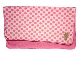Child Of Mine Pink Polka Dot Heart MONKEY Baby Girl Blanket Sherpa Carter's EUC - $17.42