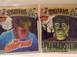 Universal Studios Monsters Iron On Transfer THE WOLFMAN & FRANKENSTEIN - $18.60