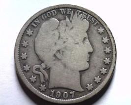 1907-O Barber Half Dollar Very Good Vg Nice Original Coin Bobs Coins Fast Ship - $28.00