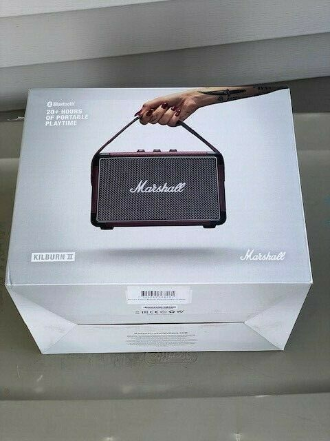 Marshall - Kilburn II Portable Bluetooth Speaker - Burgundy Brand New