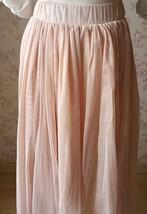 "Blush Long Tulle Skirt Blush Wedding Bridesmaid Skirt High Waisted 27.5"" long image 7"