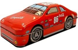 Coca-Cola Collectible Race Car Tin Red #86 Decorative Coke Container Box - $9.99