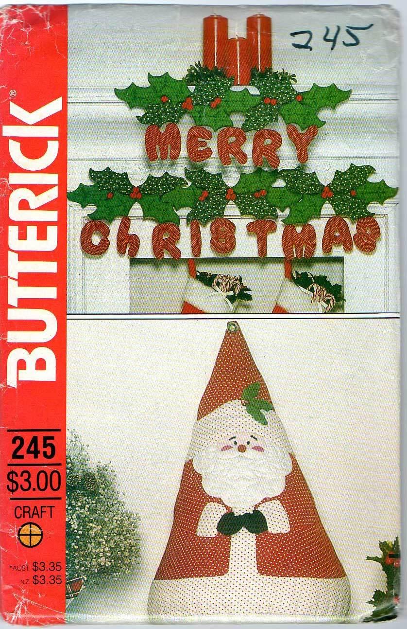 Butterick No. 245 Christmas Decor Butterick