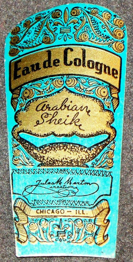 Arabian sheik cologne label 001