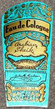 Classic Deco! Arabian Sheik Cologne Label, 1920's  - $3.49
