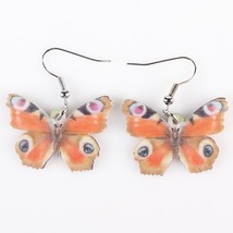 Drop Butterfly Earrings Acrylic Art Big Long Danlge Earrings Charm Anima... - $6.73