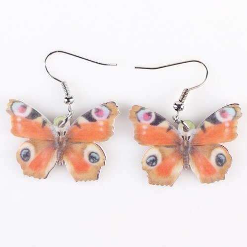 Primary image for Drop Butterfly Earrings Acrylic Art Big Long Danlge Earrings Charm Animal New 20