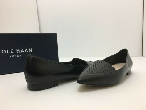 Cole Haan Allison Skim Perf II Black Leather Women's Size 5.5 M