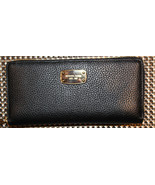 $168 NWT Michael Kors JET SET Travel Zip Around Leather Black Wallet - $119.99