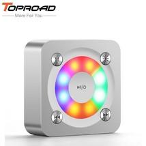 TOPROAD® LED Light Wireless Altavoz Bluetooth Speakers Metal Stereo Deep... - $23.01