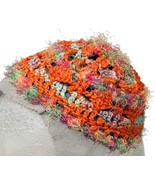 Fuzzy Orange Crochet Beanie Hat - $13.50