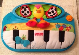 Fisher Price Crib Toy Piano Miracles & Milestones Peek a Boo Kick & Play... - $17.82