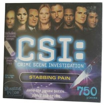 "CSI Crime Scene Investigation ""Stabbing Pain"" Jigsaw Puzzle 750 Pc - $8.90"