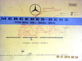 1964 Mercedes owners Parts manual book ponton 180 a b c d  - $124.99