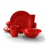 Gibson Home Carlton 12-Piece  Dinnerware Set in Red - $59.58