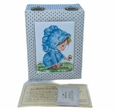 Hallmark Music box 1974 vtg blue bonnet girl musical collection Treasure... - $29.65