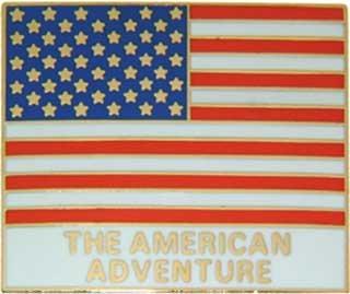 Disney USA World Showcase Cast Member flag pin/pins