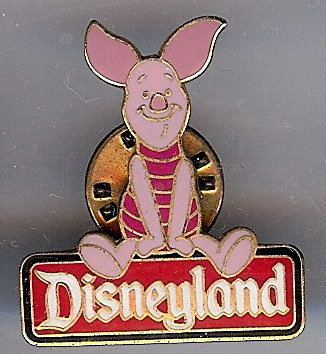 Disneyland DLR - Piglet Character Sign pin/pins