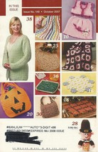 Hooked on Crochet Magazine October 2007 #149~Stained Glass Afghan+ - $1.99
