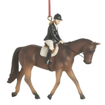 English Dressage Rider & Horse Ornament - $14.95