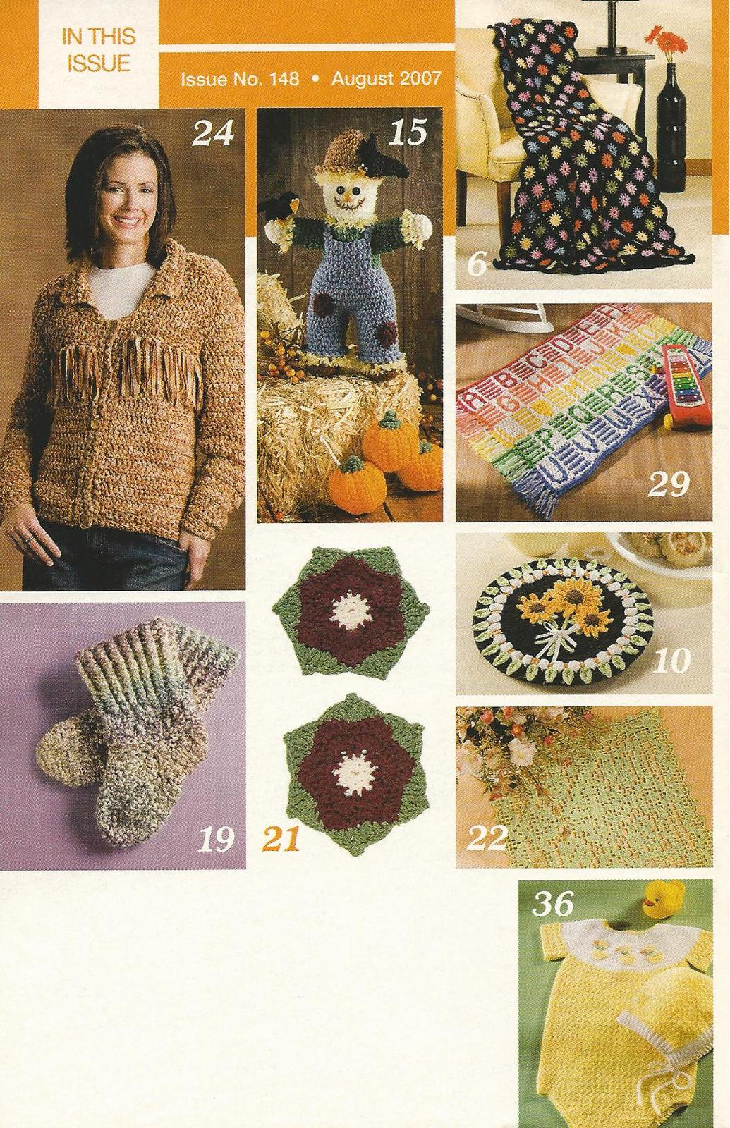 Primary image for Hooked on Crochet Magazine August 2007 #148~Scrap Crochet Afghan+
