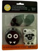 Black Bat Halloween Cupcake Combo Kit Makes 12 Liners Picks Eyes Wilton - $7.51