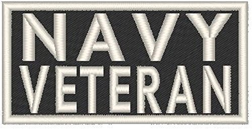 Primary image for VETERAN Iron-on Patch MC Biker US Emblem WHITE Border #02