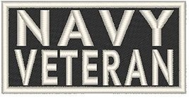 VETERAN Iron-on Patch MC Biker US Emblem WHITE Border #02 - $5.93