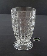Windsor Diamond Crystal Tumbler 5 inches Footed Jeannette - $7.95