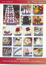 Hooked on Crochet Magazine July/August 1999 #76~Patriotic Pinwheel Afghan+ - $5.99