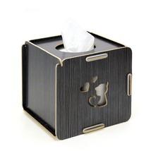 Tissue Box Creative Wood Desktop Storage Diy Holder Organizer Home Decor... - $25.99