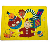 VTG Whitman Abstract Art Toys Colors Picture Puzzle Flat Frame Tray Inlay 1940's - $18.81