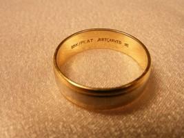 18K  GOLD  & PLATINUM, RING 5.75MM WIDE & SIZE 9. ( MSRP $1500.00 + ) - $395.01