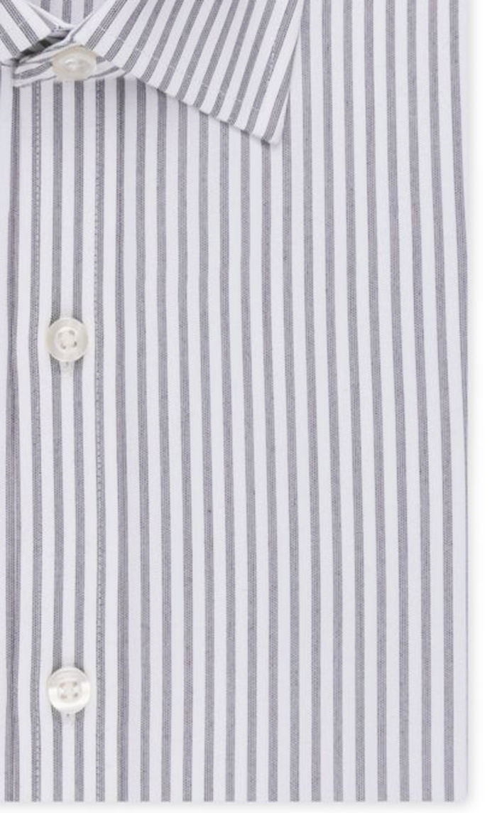 MICHAEL KORS NON IRON LONG SLEEVE STRIPED GREY COTTON BUTTON FRONT DRESS SHIRT