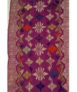 Hand Woven Metallic Gold Embroidery Brocade Dam... - $247.49