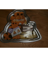 RARE~Vintage 1987 WILTON GARFIELD CAKE PAN WITH INSTRUCTIONS - $22.49