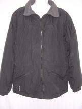 Columbia Black Half-Fleece Lined Jacket Womens M - $32.19