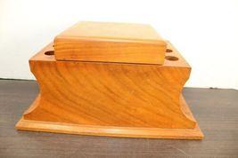 "Vintage Large 12"" Dunhill Wood Pipe & Cigar Holder Stand Rack Stash Box Tobacco image 8"