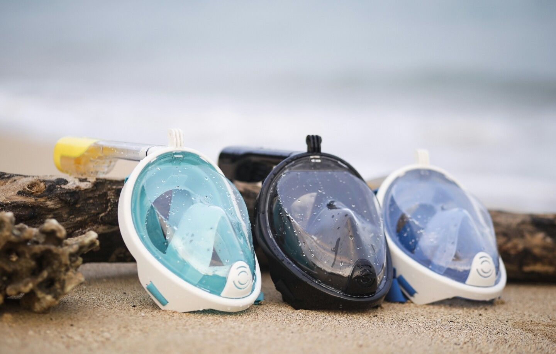 Full Face Snorkel Mask + GoPro Mount = SharkLens