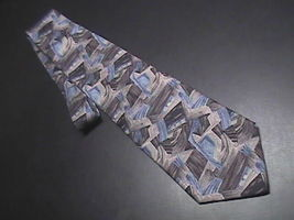 Metropolitan Museum Of Art New Directions Neck Tie Abstractions Blues and Grays - $10.99