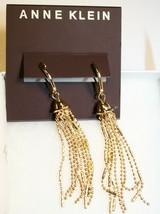 New-Anne Klein Gold-Tone Leverback Tassel Drop Earrings - $20.79