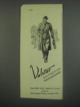 1949 Valstar Weatherwear Ad - Valstar distinctive weatherwear - $14.99