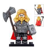 Thor (Golden hair) with Mjolnir and stormbreaker Avengers Endgame Minifi... - $3.99
