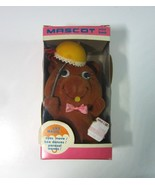 Vintage 1960's Mascot Googly Eyed Fuzzy Brown Bear with Umbrella & Bee C... - $12.99