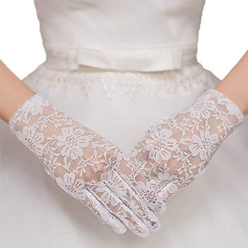 The Bride Marriage Dress Wedding White Lace Short Gloves Wedding Gloves
