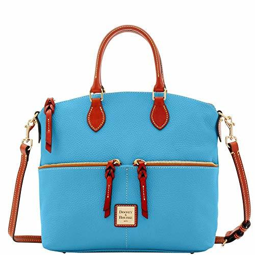 Dooney & Bourke Pebble Double Pocket Satchel Sky Blue