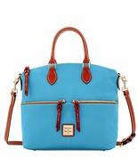 Dooney & Bourke Pebble Double Pocket Satchel Sky Blue Purse handbag - $259.00