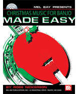 Christmas Music For Banjo Made Easy/Book w/CD Set - $14.99
