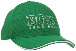 New Hugo Boss Men's Pique Logo Adjustable Trucker Sport Hat Cap 50251244 image 9